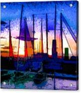 Sailboats At Rest Acrylic Print