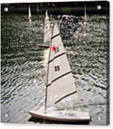 Sailboats In Central Park Acrylic Print