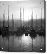 Sailboats In Harbor 1 Acrylic Print