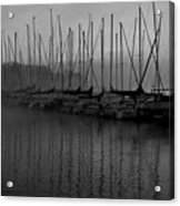 Sailboats In Harbor 2 Acrylic Print
