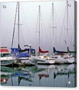Sailboats In The Fog Acrylic Print