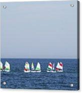 Sailboats In The Mediterranean Sea  Acrylic Print