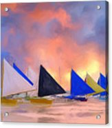 Sailboats On Boracay Island Acrylic Print