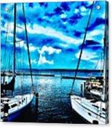 Sailboats Watching Weather Acrylic Print