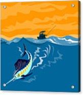 Sailfish Fishing Boat Acrylic Print