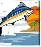 Sailfish Island Acrylic Print by Aloysius Patrimonio