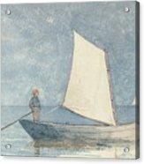 Sailing A Dory Acrylic Print