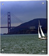Sailing And The Golden Gate  Acrylic Print