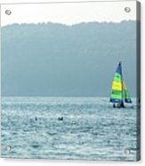 Sailing At La Playa Acrylic Print