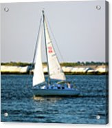 Sailing At Long Beach Island Acrylic Print