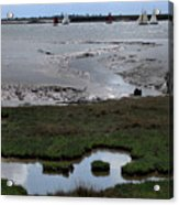 Sailing At Low Tide Acrylic Print