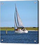 Sailing At Masonboro Island Acrylic Print