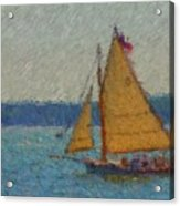 Sailing At Spruce Point Boothbay Harbor Maine Acrylic Print