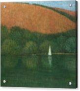 Sailing At Trelissick Acrylic Print