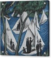 Sailing Boats Near Grunau Acrylic Print