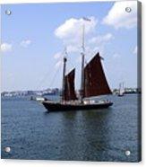 Sailing Boston Acrylic Print