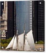 Sailing By Downtown Acrylic Print
