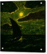 Sailing By Moonlight Acrylic Print
