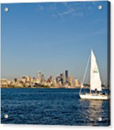 Sailing By Seattle Acrylic Print