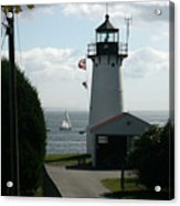 Sailing By The Lighthouse Acrylic Print