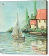 Sailing Day After Monet Acrylic Print