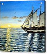 Sailing Day Sunset Acrylic Print