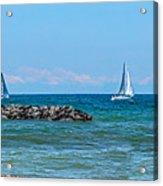 Sailing Days On Lake Erie Panorama Acrylic Print