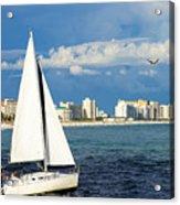 Sailing Destin, Fl Acrylic Print