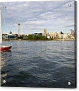Sailing Downtown Acrylic Print
