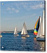 Sailing Group Seattle Acrylic Print