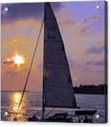 Sailing Home Sunset In Key West Acrylic Print