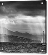 Sailing In Black And White Acrylic Print