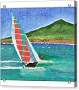 Sailing In Hawaii Acrylic Print