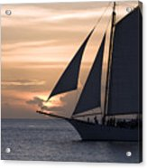 Sailing In Key West At Sunset Acrylic Print