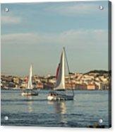 Sailing In Lisbon Portugal Acrylic Print