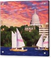 Sailing In Madison Acrylic Print