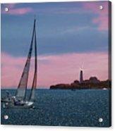 Sailing In Portland Maine Acrylic Print