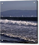 Sailing In Santa Monica Acrylic Print