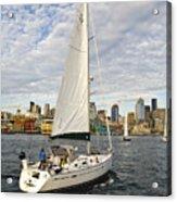 Sailing In Seattle Acrylic Print