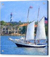 Sailing In St. Augustine Acrylic Print