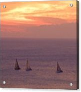 Sailing In The Golden Glow Acrylic Print