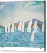 Sailing Lake Washington Acrylic Print