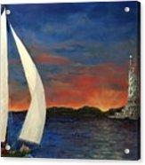 Sailing Liberty Acrylic Print