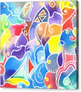 Sailing Maze Acrylic Print