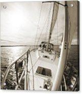 Sailing On A Beneteau 49 Sailboat Acrylic Print