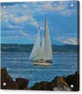 Sailing On A Summer Day Acrylic Print