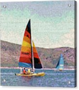 Sailing On A Utah Lake Acrylic Print