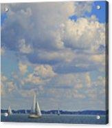 Sailing On Chiemsee Lake Acrylic Print
