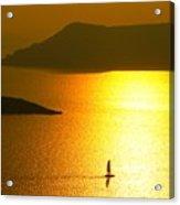 Sailing On Gold 1 Acrylic Print