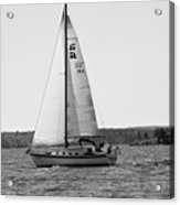 Sailing On Lake Murray S C Black And White Acrylic Print